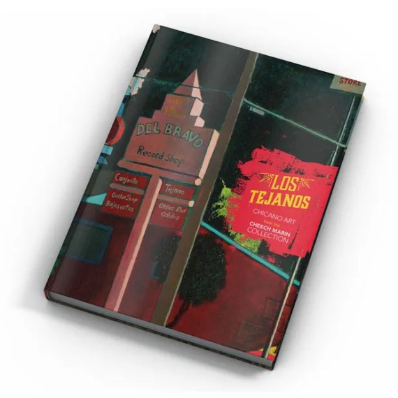 Los Tejanos art book featuring chicano art from the Cheech Marin collection