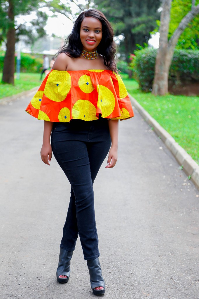 Cheekily Chic Bright and Breezy Ankara Off Shoulder 2
