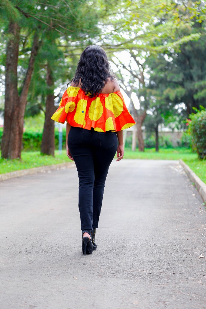 Cheekily Chic Bright and Breezy Ankara Off Shoulder 3