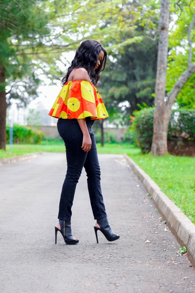 Cheekily Chic Bright and Breezy Ankara Off Shoulder Cover