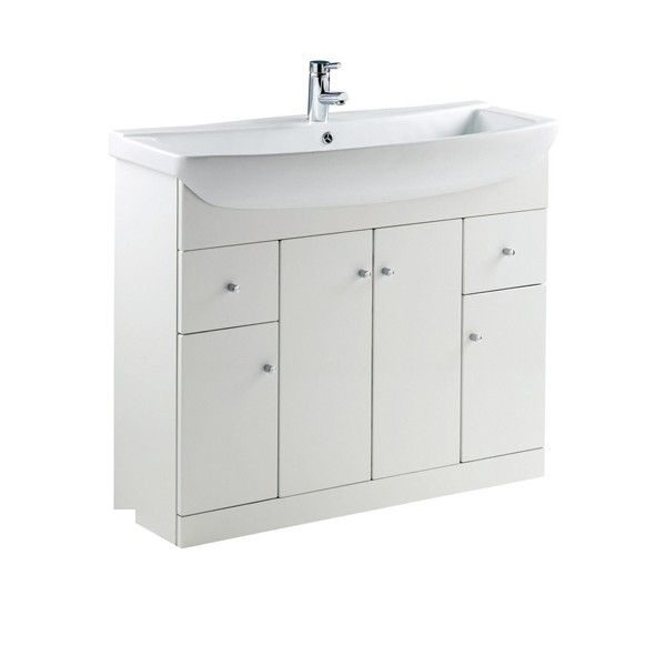 Ikoma 1050mm White Floorstanding Vanity Unit Cheeky Bathrooms
