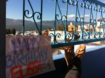 Happy Birthday from Chefchaouen, Morocco