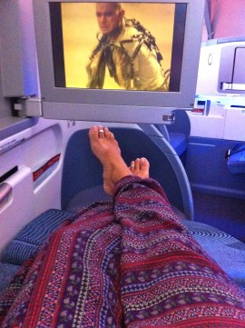 First Class Flight, Chile to Argentina