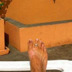 Post-Trek Black and Blue Toes