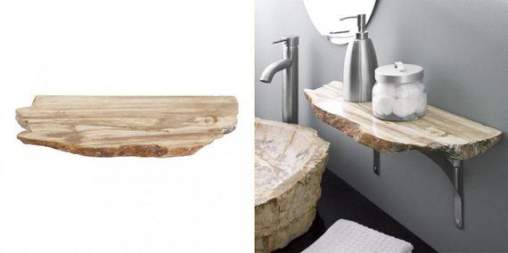 Wooden Sink Shelf