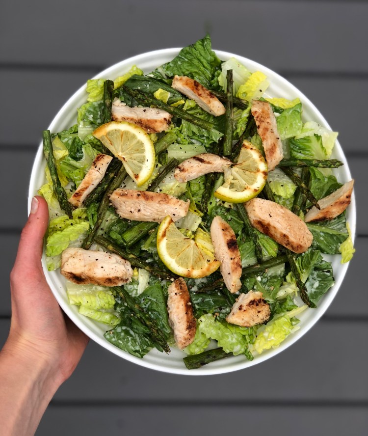 Grilled Lemon Chicken and Asparagus Salad with Creamy Feta Sauce. This salad is sure to be both a family-friendly and crowd-pleasing summer favorite!