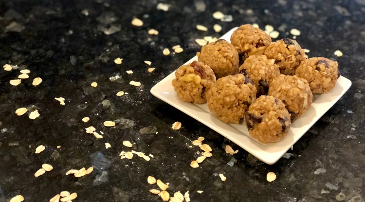 These energy bites are the perfect snack to grab and go! Flexible ingredients and takes 5 minutes or less!
