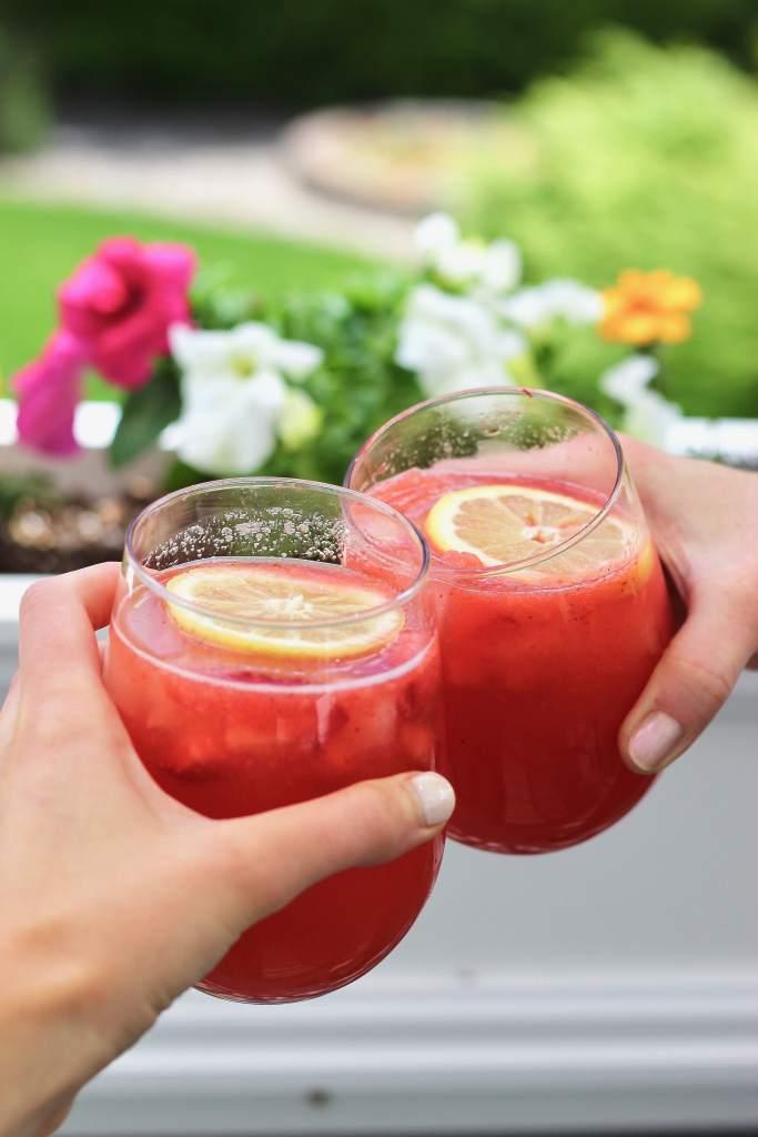 Drinking cheersing