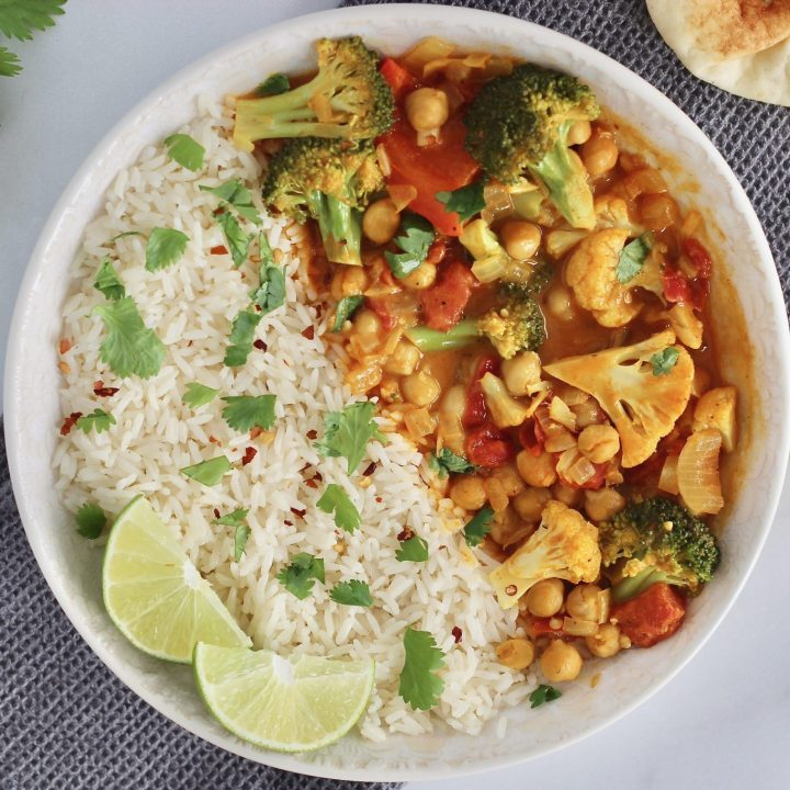 Mixed Vegetable Curry With Coconut Milk
