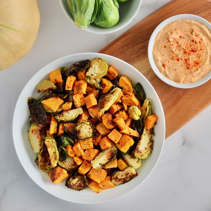 Roasted Fall Vegetables with Smoked Paprika Aioli