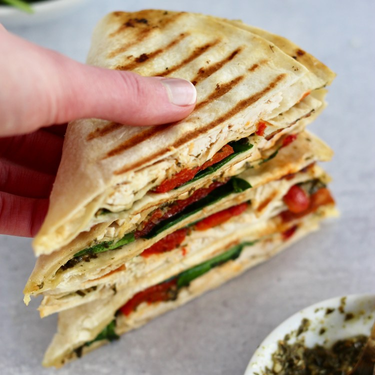 Grabbing a grilled wrap