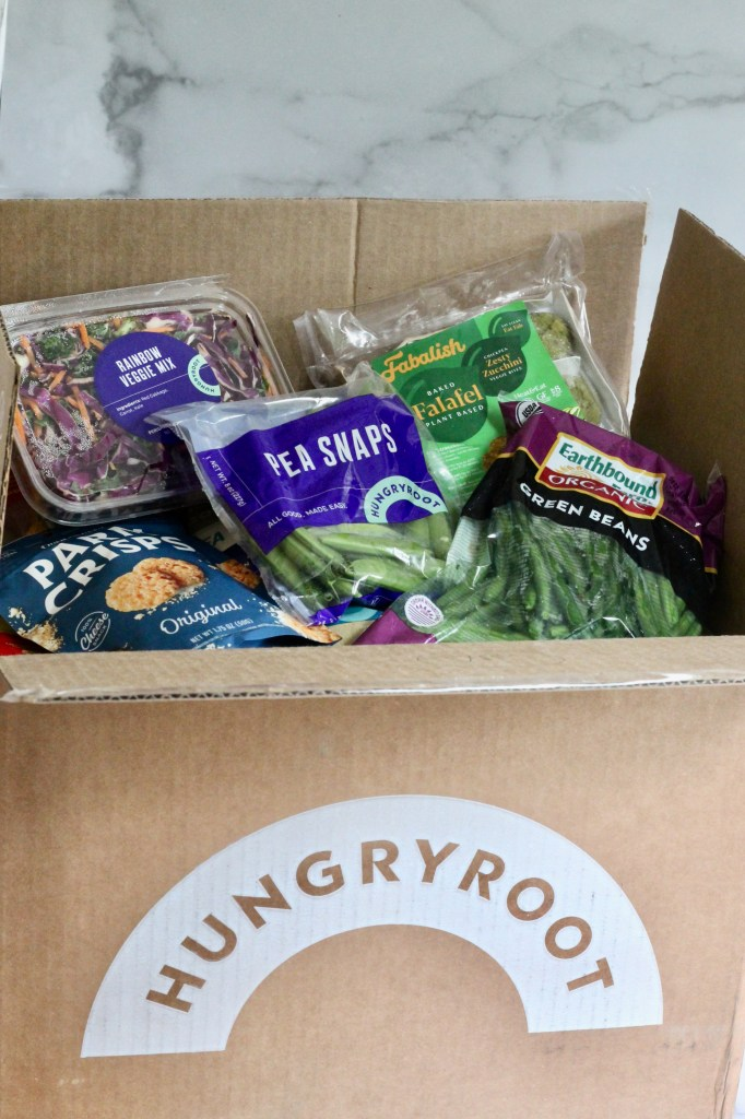 Ingredients stacked in Hungryroot box