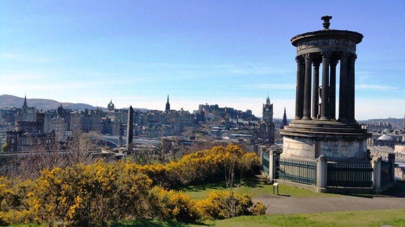 Calton Hill in Edinburgh Itinerary
