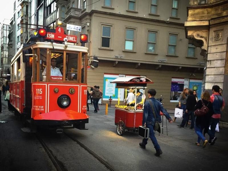 Tram At Taksim Square