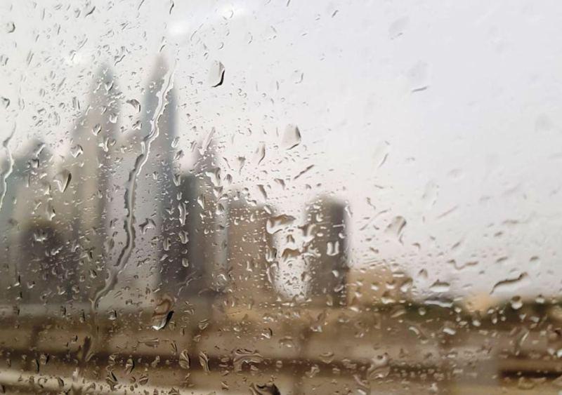 Rain over the Marina Towers