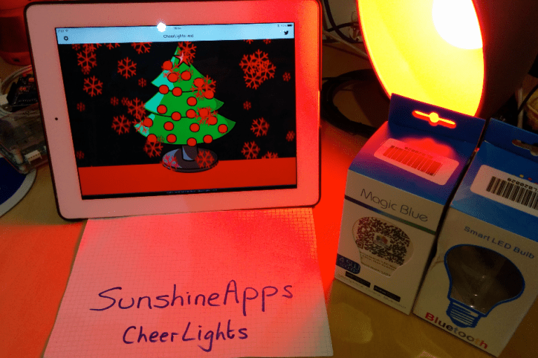 CheerLights iPhone App with Bluetooth Smart Light Bulb