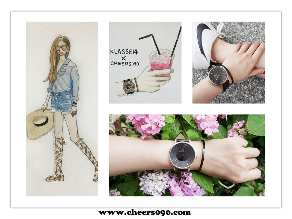 席捲時尚圈的KLASSE14手錶,最新2017年Volare Dark Rose系列腕錶 穿搭示範-cheers090時尚穿搭!
