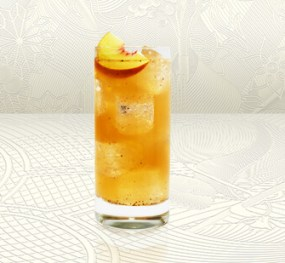 Peppered Peach Tea Tom Collins