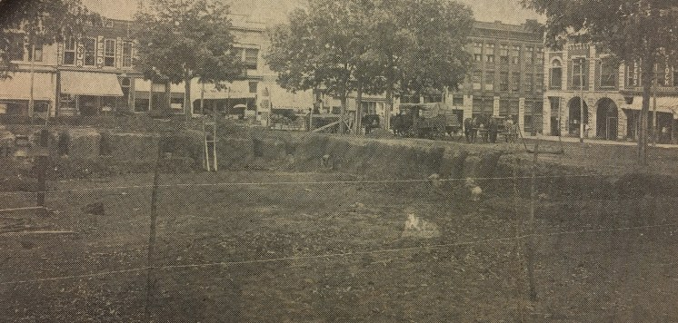 Sept. 1, 1909: Excavation takes shape after site preparation is completed