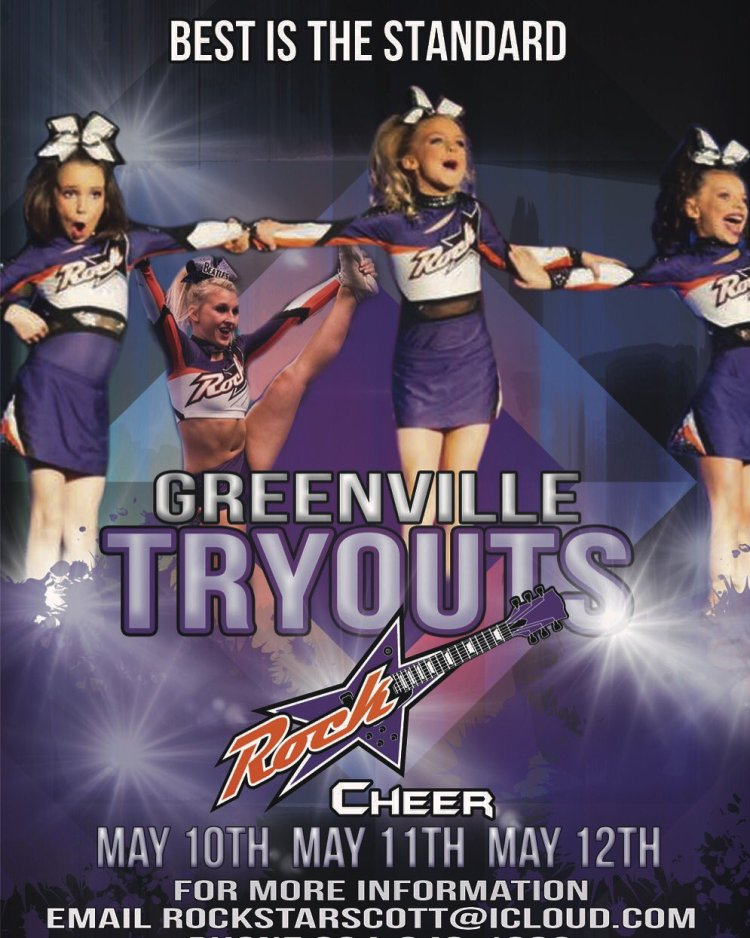 Rockstar Cheer Greenvile 2017 Tryouts