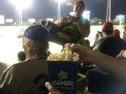 Baseball popcorn brought to you by the local cinema chain