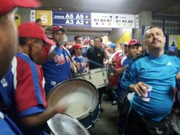 Drumline plus drunk guy.