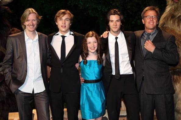 Asisten el director Andrew Adamson, los actores William Moseley, Georgie Henley, Ben Barnes y el productor Mark Johnson