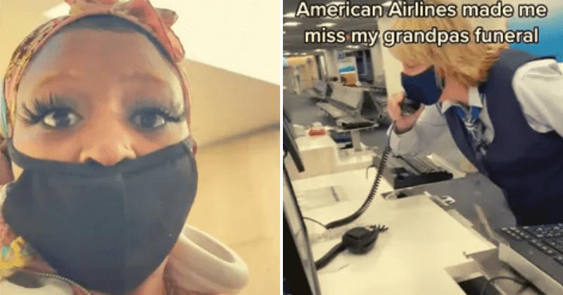 TikToker culpa a American Airlines por perderse el funeral del abuelo, pero internet no lo compra