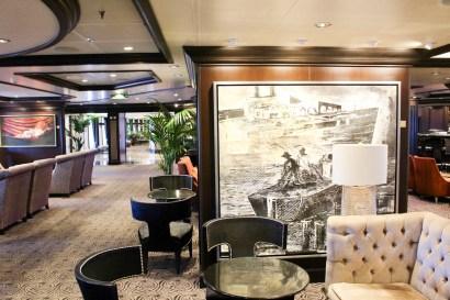 Lounge an Bord der Riviera