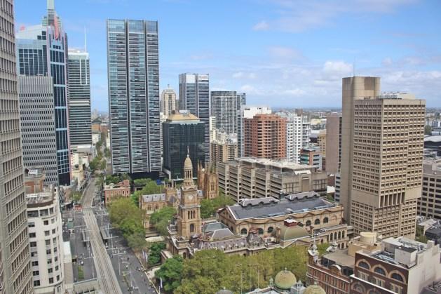 Ausblick aus unserem Hilton Hotel
