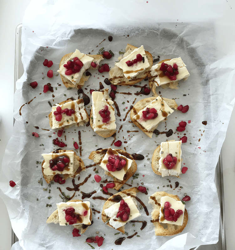 Brie with pomegranate