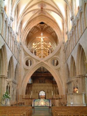 Medivial Cathedral of Wells - the Scissor Arches