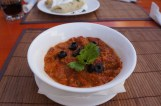 Aubergine and pepper stew
