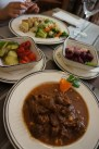 Transilvanian Goulash, pickled salad and beetroot
