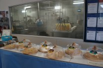 Cheese room and tasting at Cheese factory Alexandrina, good cheddar curd from Jersey cows