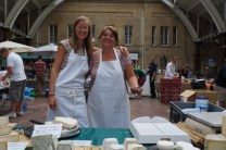 Debbie and me at the Bath's farmers market