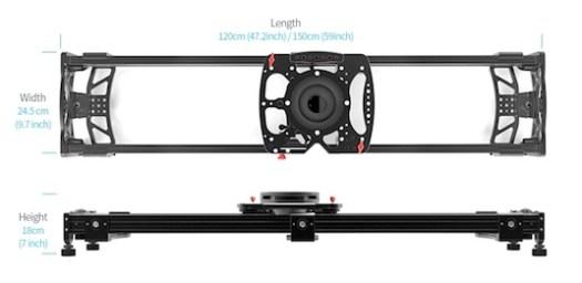 konova double rail system k-cine video slider dolly