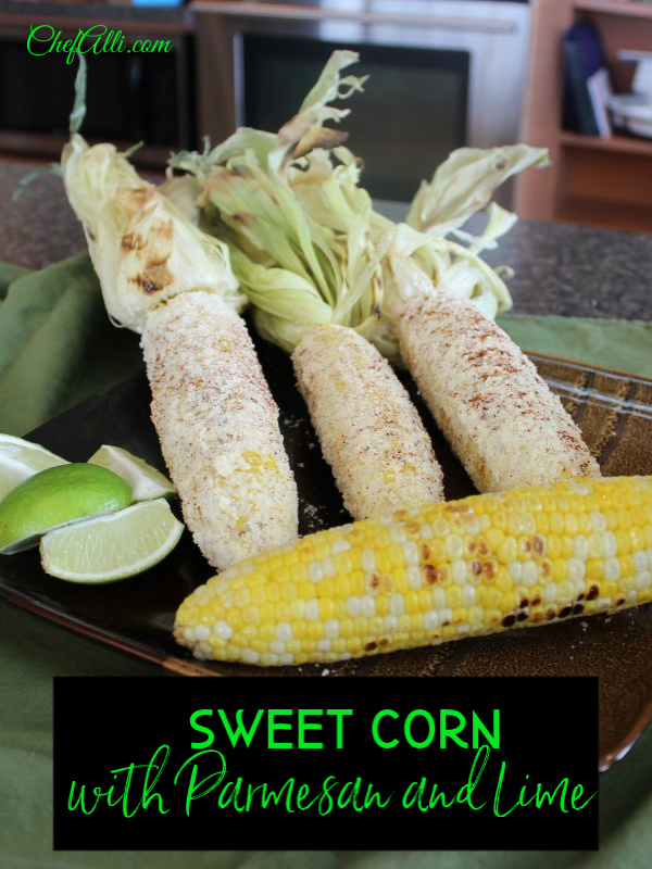 Cuban Sweet Corn with Parmesan and Lime....don't you dare knock it 'til you try it! I confess, plain ol' sweetcorn with butter, salt, and pepper is divine, but THIS recipe is heaven on a plate!