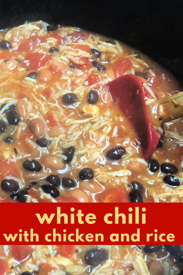 You'll want to be an extra big pot of White Chicken Chili!