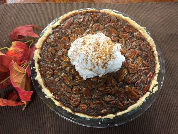 Pecan Pie with Cinnamon Whipped Cream