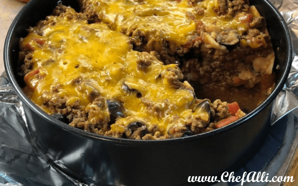 Easy Instant Pot Enchilada Casserole is deliciously quick and satisfying.