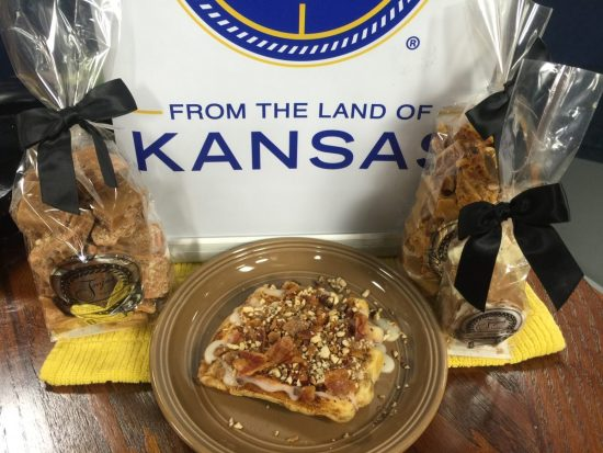 Cinnamon Roll Waffles from the Land of Kansas