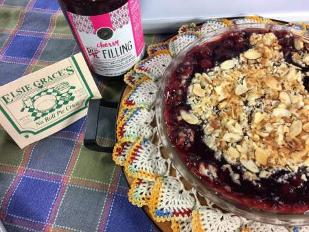 Cherry Crumble with Almond Glaze | Chef Alli's Farm Fresh Kitchen