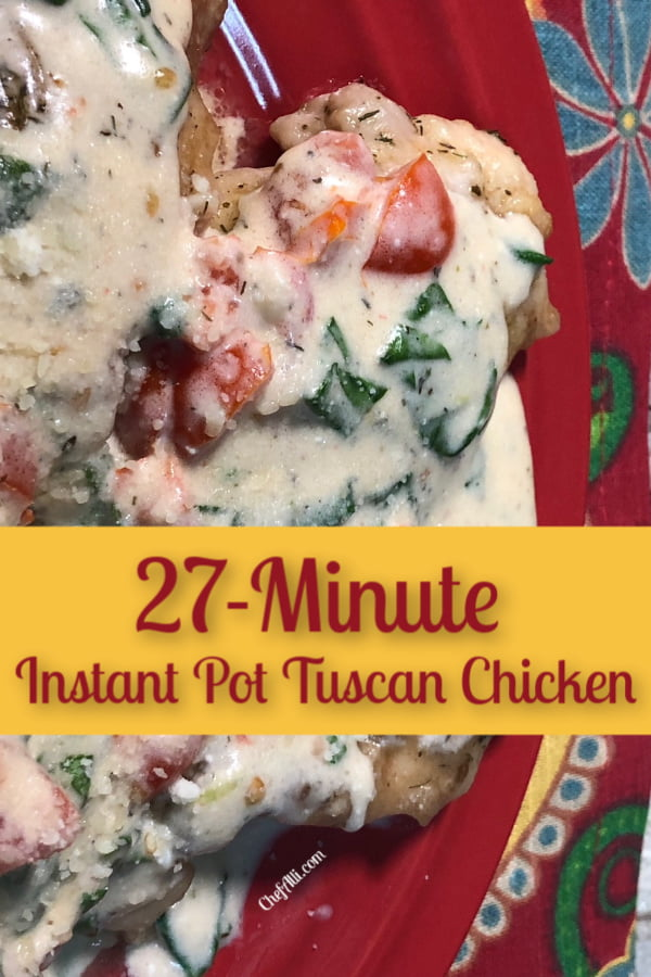 Make 27-Minute Instant Pot Tuscan Chicken as a Low-Carb Meal.