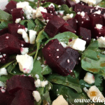 Beet Salad with Goat Cheese and Pistachios is like lunchtime Heaven!