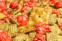 A close up photo of Churro Party Mix.