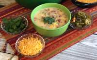 "Are you yearning for a super tasty ""dump and go"" soup? Dig into this hearty Tex Mex Corn Chowder!"