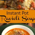 Man, I love it when a recipe happens to come together on the fly! I was needing something warm and hearty to take over to our neighbors' house for dinner and I had this particular tortellini soup in mind. Then, I noticed that I had picked up frozen RAVIOLI at the grocer, instead of frozen TORTELLINI pasta....bummer. That is, UNTIL this soup came together - WOW.