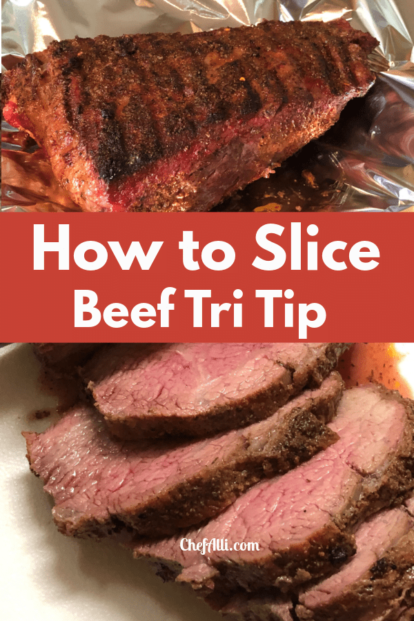 Learn how to slice a beef tri tip roast into slabs of steak.