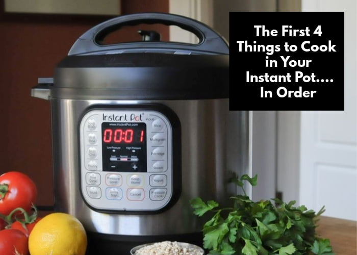 instant pot with vegetables